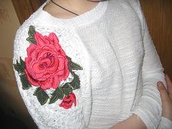 бомбезный легкий свитерок 10-12 лет