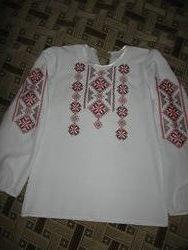 вышиванка на длинном рукаве вышитая чешским бисером