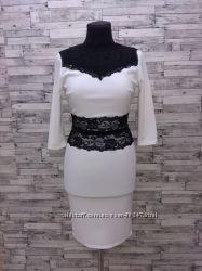 Белое нарядное платье Mango
