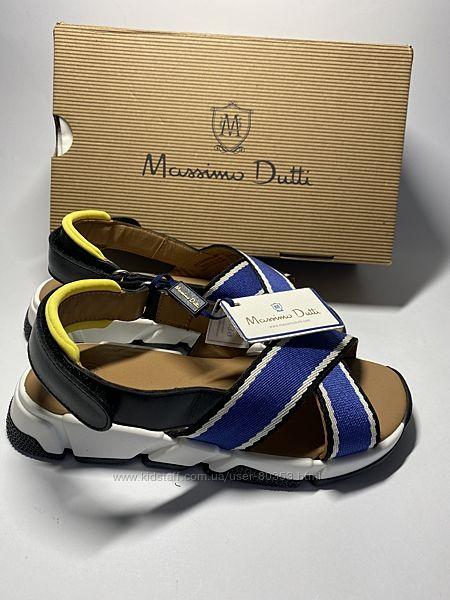 Стильные кожаные  босоножки Massimo Dutti