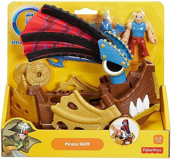 Игровой набор Fisher-Price Imaginext Pirate Skiff