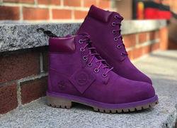 Ботинки timberland premium 6 inch boot bright purple nubuck