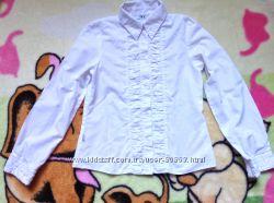 Белая рубашечка SLY для девочки р. 140