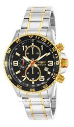 Invicta Men&acutes 14876 Specialty Chronograph 18k Gold Ion-Plated and Stai