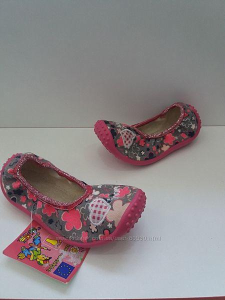Текстильные тапочки для девочки Zetpol Польша