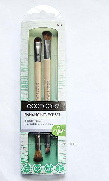 EcoTools, Набор кистей для макияжа, 2 шт. с 4 разными