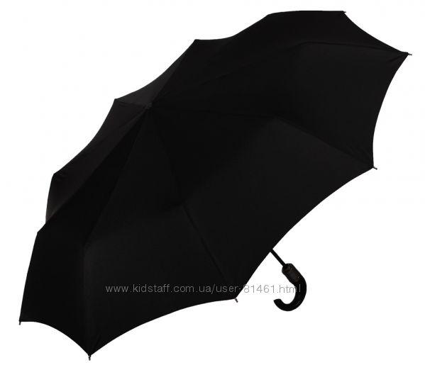 Бесплатная доставка. Стильный мужской зонт Zest Англия. Ручка в коже 13990