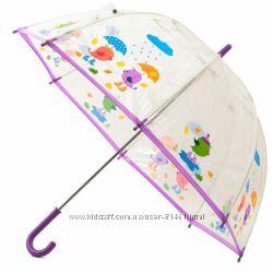 Стильный прозрачный зонтик Птички. Гарантия 6 мес