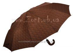 Бесплатная доставка. Мужской зонт полуавтомат, 10 спиц. Модель с принтом.