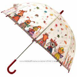 Стильный прозрачный зонт со зверьками. Марка Zest Англия.