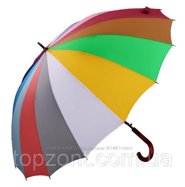 Бесплатная доставка. Зонт Радуга. Три Слона Оригинал 16 спиц.