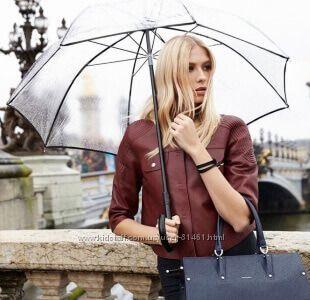 Прозрачный женский зонт трость. Разные цвета. Гарантия