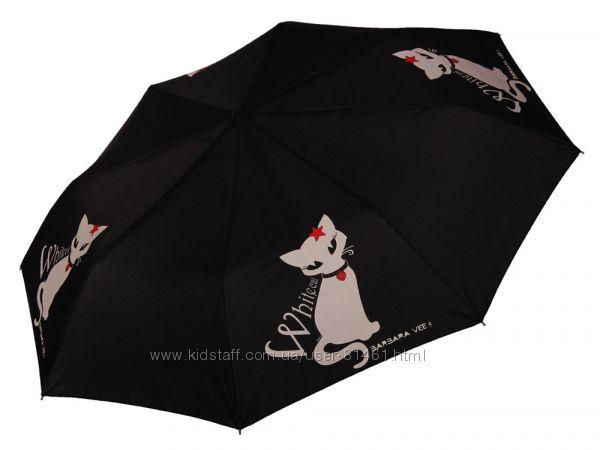 Итальянские дизайнерские зонтики с котиками. Barbara Vee. Гарантия.