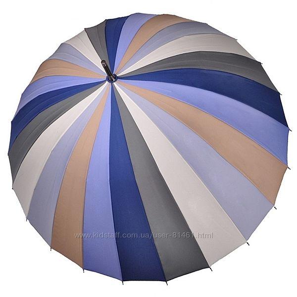 Крепкий зонт трость Радуга 24 спицы. Оригинал Три Слона