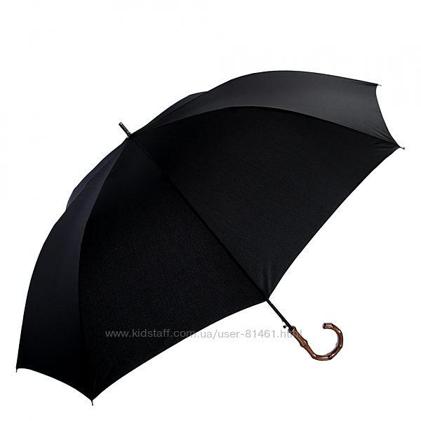 Большой мужской зонт трость Три Слона. Ручка бамбук. Гарантия. 2710