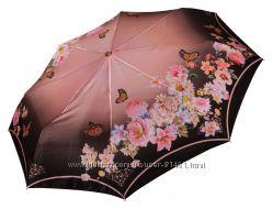 Красивый зонт Три Слона  ОРИГИНАЛ  - сатин, полный автомат арт. 125-43
