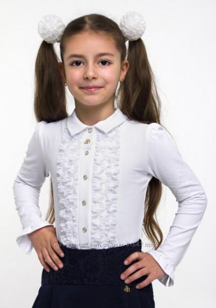 Белая блузка Смил для девочки 128, 134, 140