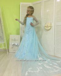 Восхитительное платье Эльзы на 3 года, 4 года, 5 лет, 6 лет, 7 лет