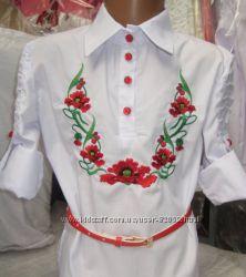Блуза, вышиванка, р. 128-134