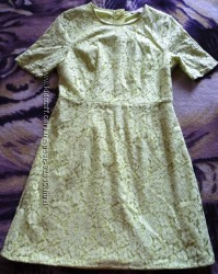 Платье кружево нежно оливковое