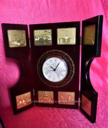 Часы книжка Австралия складные деревянные