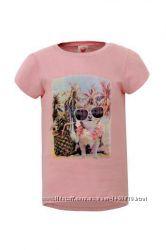 Красивая футболка спринтом для девочек р. 104-116