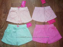 Трикотажные шорты для девочек 4-6