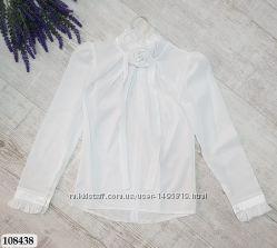 Блузка белая для девочек 146-152, Турция, маломерят