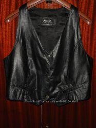 Кожаная жилетка Pretty Leather натуральная кожа лайка