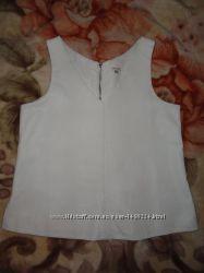 Кожаная белая блуза River Island эко кожа
