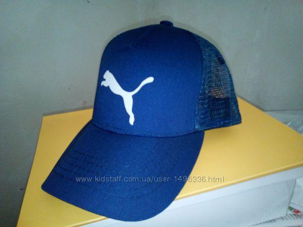 Синяя бейсболка с белой вышивкой Puma