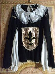 Взрослый камзол-рубаха мушкетера карнавал