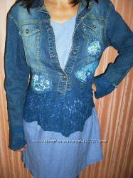 Куртка джинсовая с кружевом