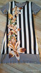 Платье летнее, Турция,  Cocoon, 48 размер