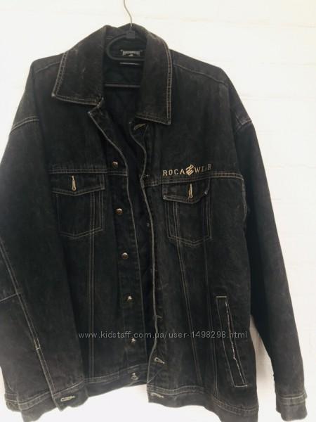 Крутая джинсовая куртка Rocawear XXL плотная с утеплителем