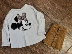 Фирменный реглан свитшот Zara 7 лет с Микки оверсайз свободного кроя