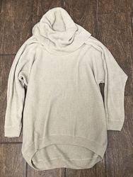 Крутой удлиненный свитер молочного цвета оверсайз Zara S M
