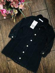 Крутое джинсовое платье рубашка Zara 6 лет с новой коллекции