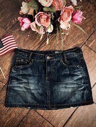 Крутая джинсовая юбка Zara M