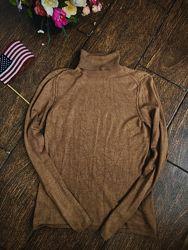 Красивый коричневый гольф под горло Zara Xs S