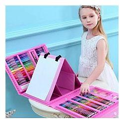 Набор для детского творчества в чемодане из 208 пр. Цвет - розовый