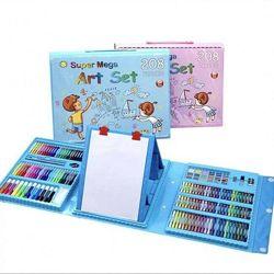 Набор для детского творчества в чемодане из 208 пр. Цвет - голубой