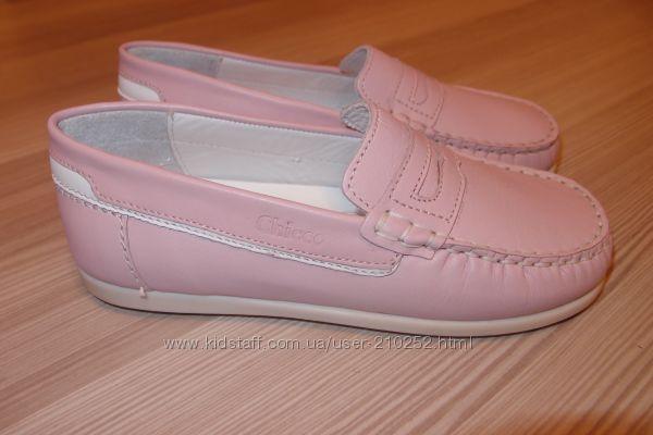 кожаные туфли 34 размер тм chicco