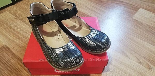 Ортопедические кожаные туфли Cezara р36-23,5см