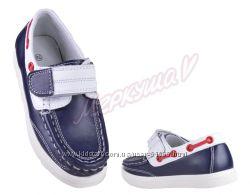B&G. Кожаные мокасины-туфли для мальчиков