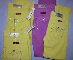 Вельветовые яркие штаны стрейч