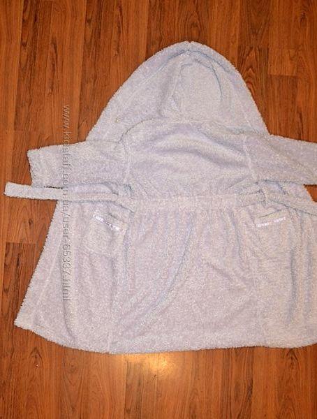 Теплый махровый халат  Lindex на 6-7 лет, рост 122 см