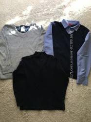 Школьные вещи свитер Zara обманка водолазка