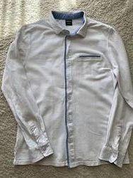 Рубашка трикотажная белая для школы
