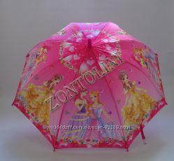 Детские сатиновые зонтики на  5-9 лет В наличии  Свисток в подарок